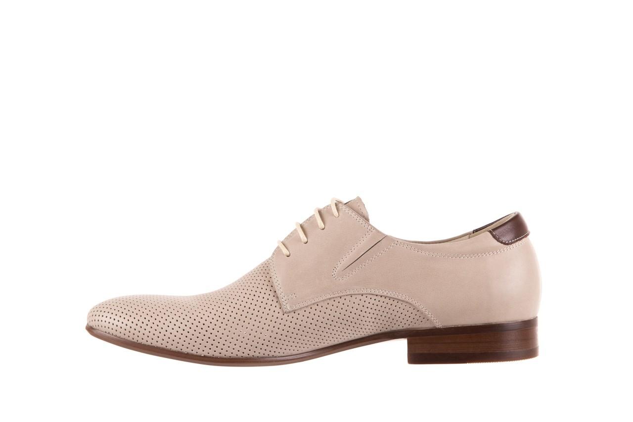 Półbuty brooman 7760-207h721 beige, beż, skóra naturalna  - obuwie wizytowe - buty męskie - mężczyzna 8