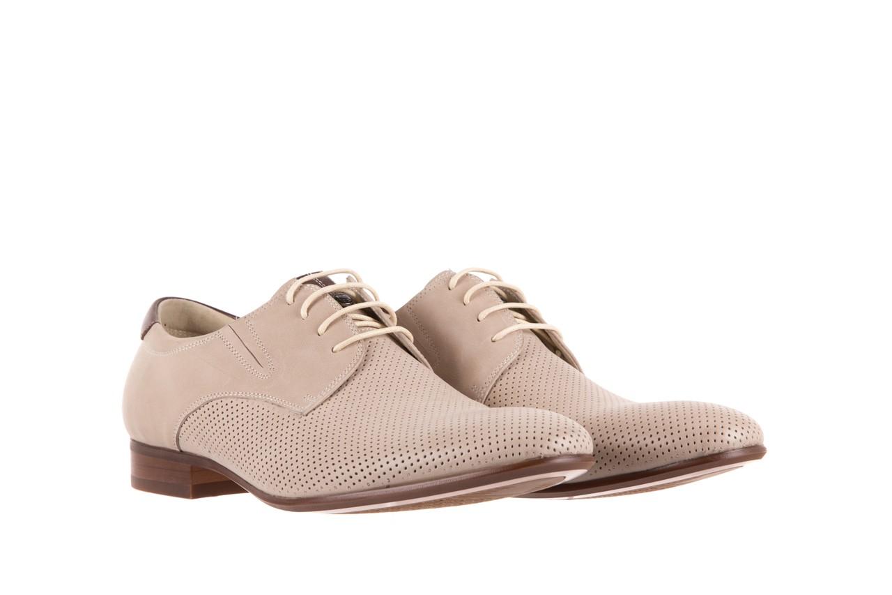 Półbuty brooman 7760-207h721 beige, beż, skóra naturalna  - wizytowe - półbuty - buty męskie - mężczyzna 7
