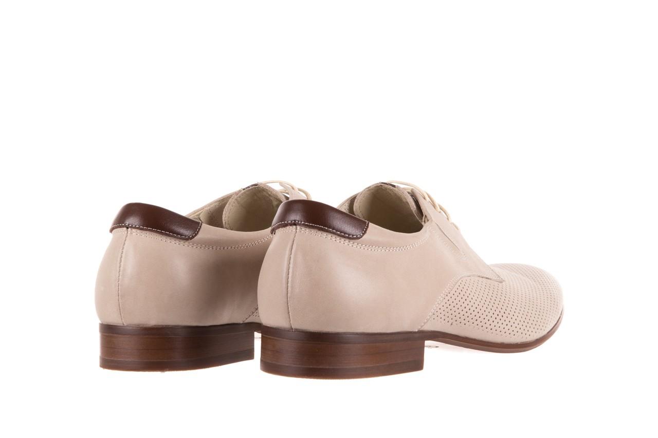 Półbuty brooman 7760-207h721 beige, beż, skóra naturalna  - obuwie wizytowe - buty męskie - mężczyzna 9