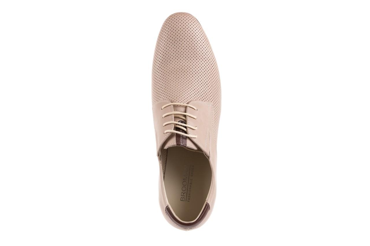 Półbuty brooman 7760-207h721 beige, beż, skóra naturalna  - obuwie wizytowe - buty męskie - mężczyzna 10