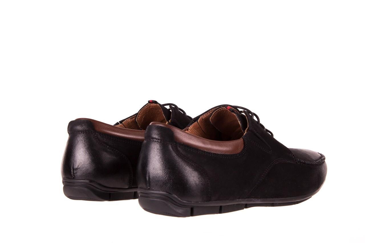 Półbuty brooman 7769-12h642 black 18, czarny, skóra naturalna  - półbuty - dla niego - sale 9