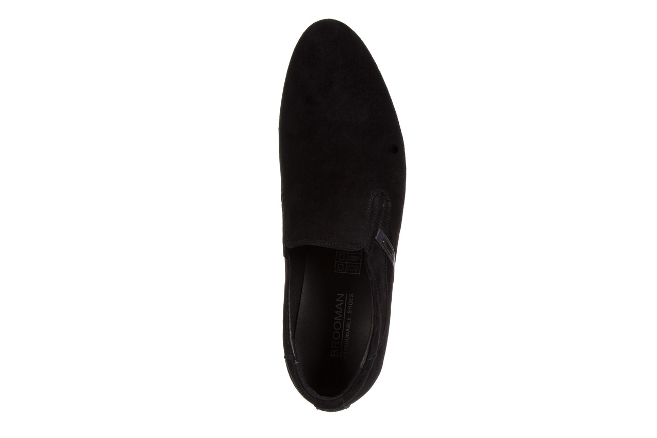 Półbuty brooman a8115-106-2 black 104046, czarny, skóra naturalna  - brooman - nasze marki 10