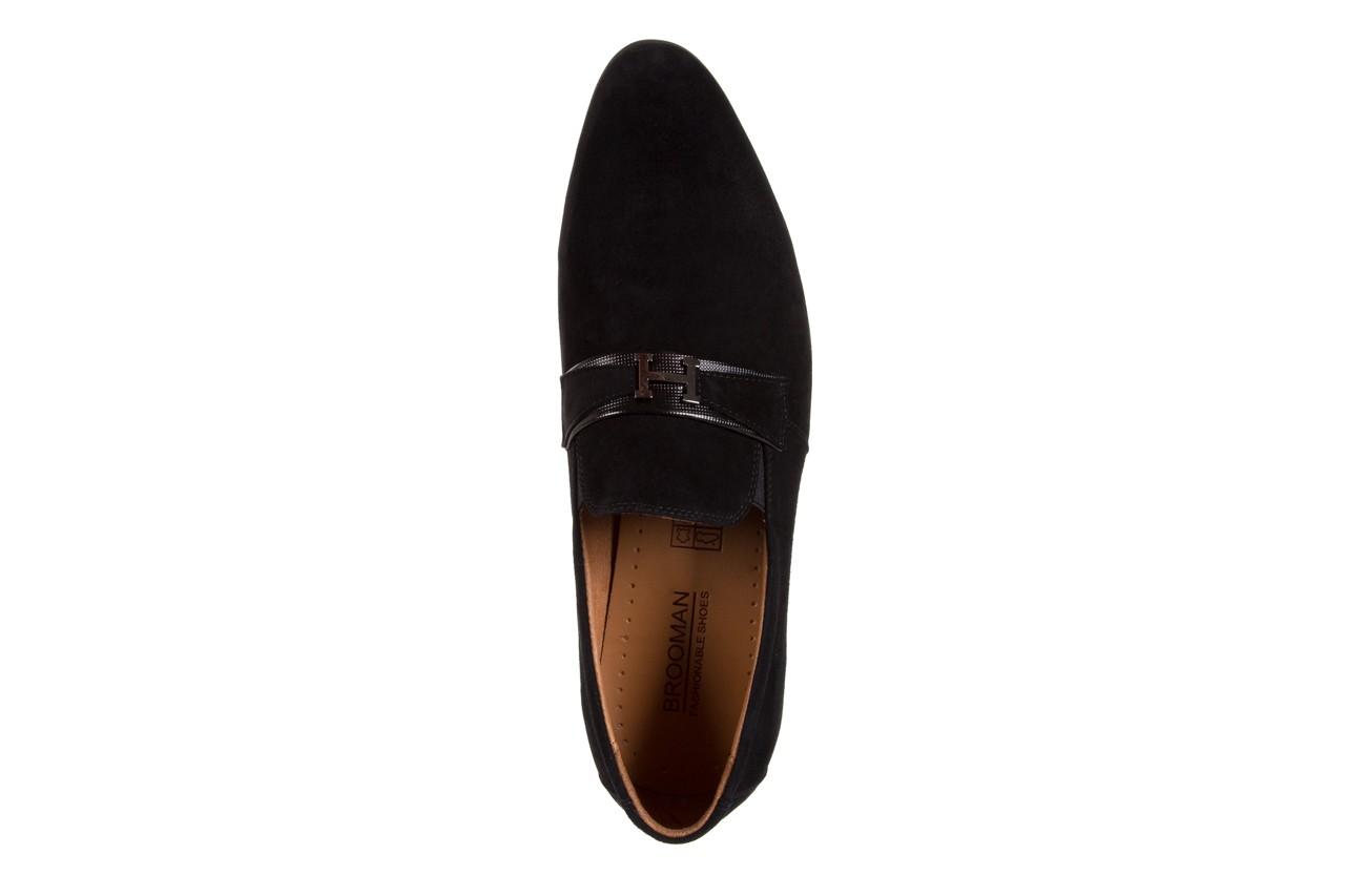 Półbuty brooman c115-302-1 black, czarny, skóra naturalna  - brooman - nasze marki 10