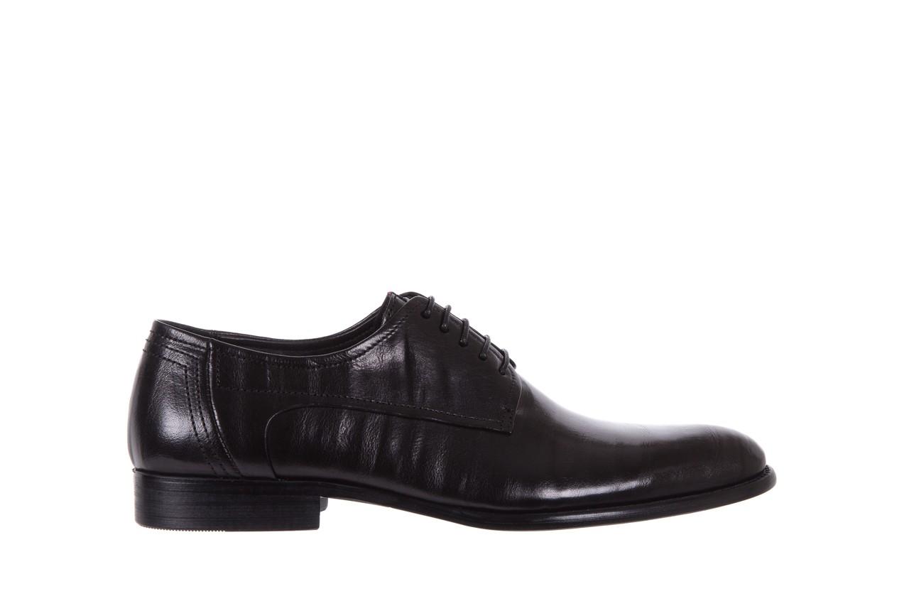 Półbuty brooman c19-358-1 black, czarny, skóra naturalna  - obuwie wizytowe - buty męskie - mężczyzna 6
