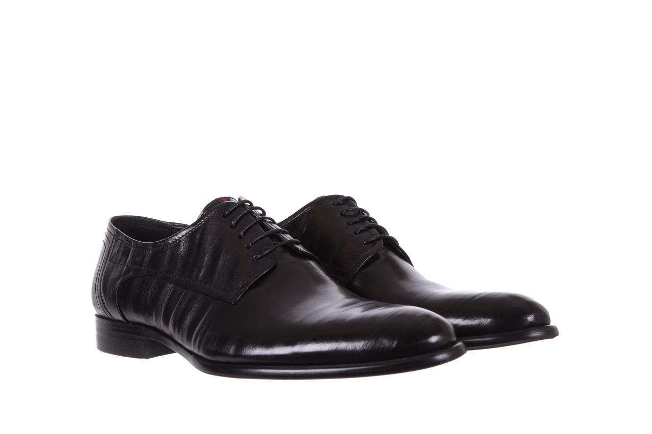 Półbuty brooman c19-358-1 black, czarny, skóra naturalna  - obuwie wizytowe - buty męskie - mężczyzna 7