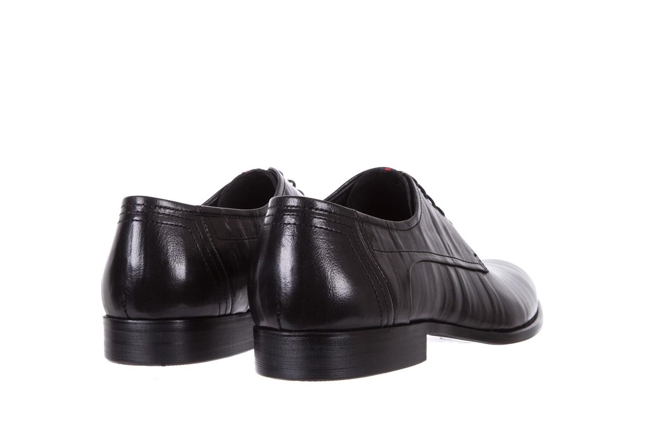 Półbuty brooman c19-358-1 black, czarny, skóra naturalna  - obuwie wizytowe - buty męskie - mężczyzna 9