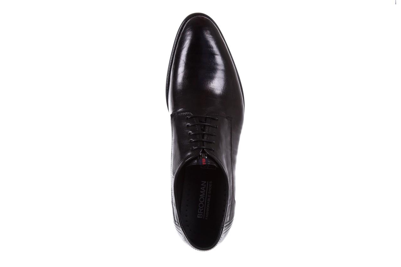Półbuty brooman c19-358-1 black, czarny, skóra naturalna  - obuwie wizytowe - buty męskie - mężczyzna 10