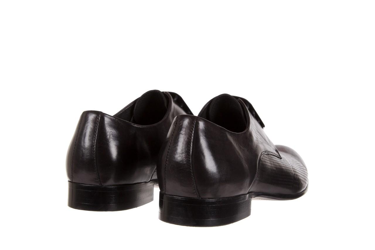Półbuty brooman da8111-101-1 black, czarny, skóra naturalna  - rozmiar 45 - mężczyzna - mega okazje - ostatnie rozmiary 9