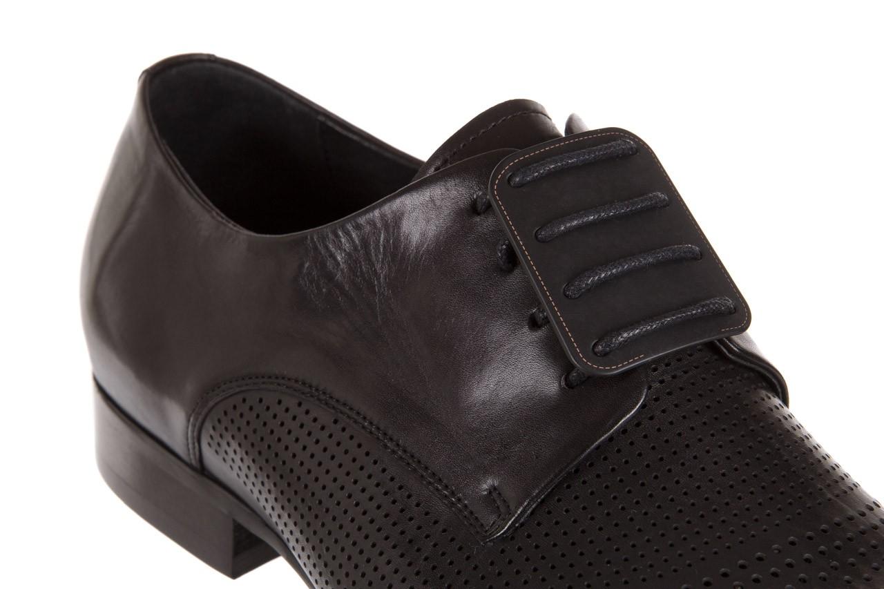 Półbuty brooman da8111-101-1 black, czarny, skóra naturalna  - rozmiar 45 - mężczyzna - mega okazje - ostatnie rozmiary 11