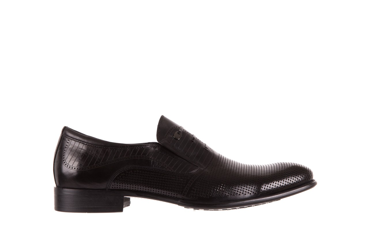 Półbuty brooman dc56-119-a689 black, czarny, skóra naturalna - obuwie wizytowe - buty męskie - mężczyzna 6