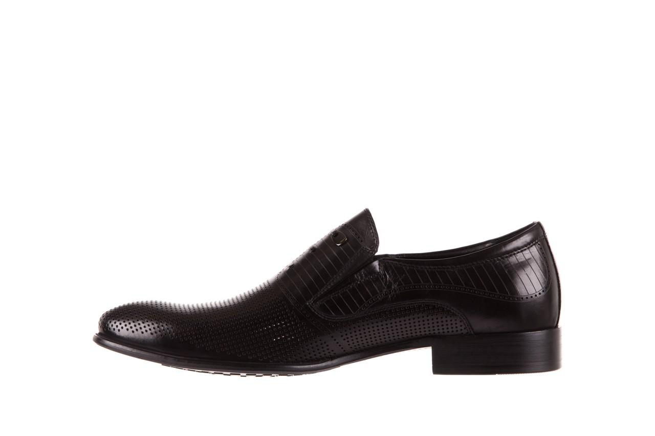 Półbuty brooman dc56-119-a689 black, czarny, skóra naturalna - obuwie wizytowe - buty męskie - mężczyzna 8