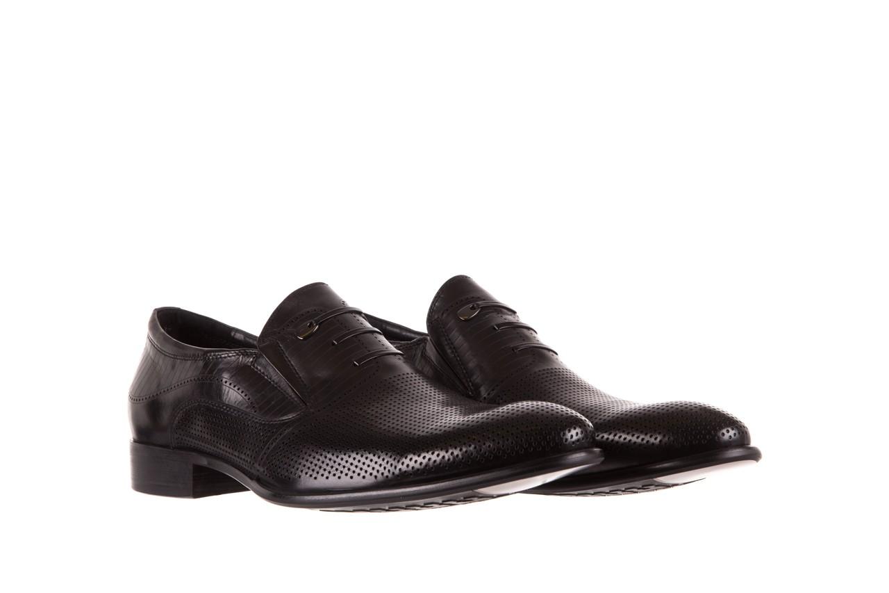 Półbuty brooman dc56-119-a689 black, czarny, skóra naturalna - obuwie wizytowe - buty męskie - mężczyzna 7