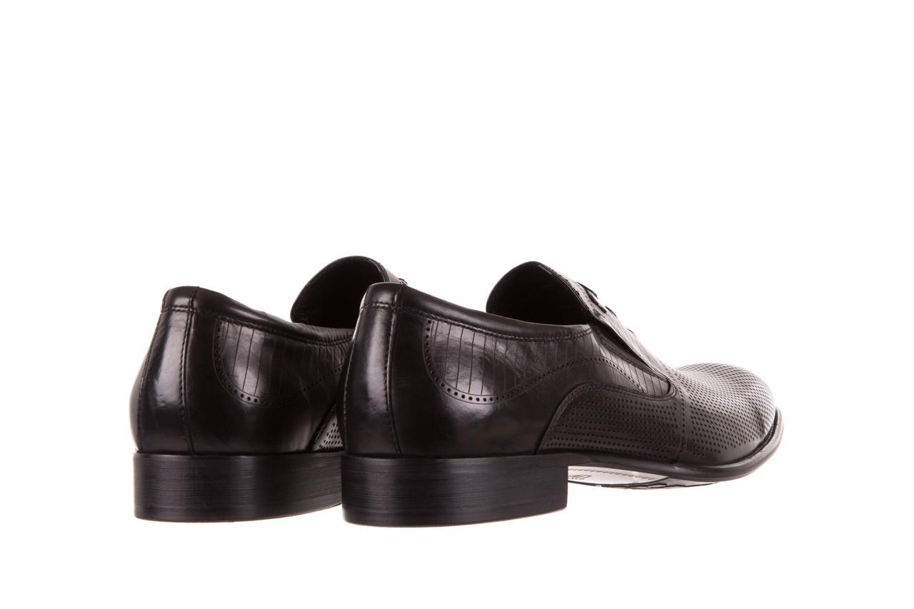 Półbuty brooman dc56-119-a689 black, czarny, skóra naturalna - obuwie wizytowe - buty męskie - mężczyzna 9