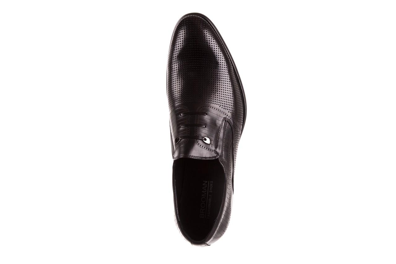 Półbuty brooman dc56-119-a689 black, czarny, skóra naturalna - obuwie wizytowe - buty męskie - mężczyzna 10