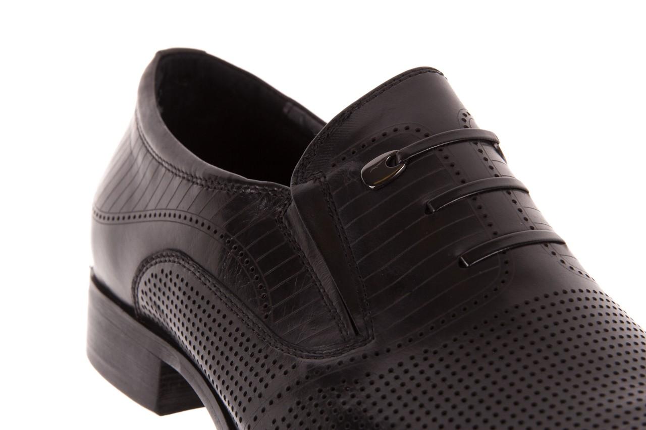 Półbuty brooman dc56-119-a689 black, czarny, skóra naturalna - obuwie wizytowe - buty męskie - mężczyzna 11