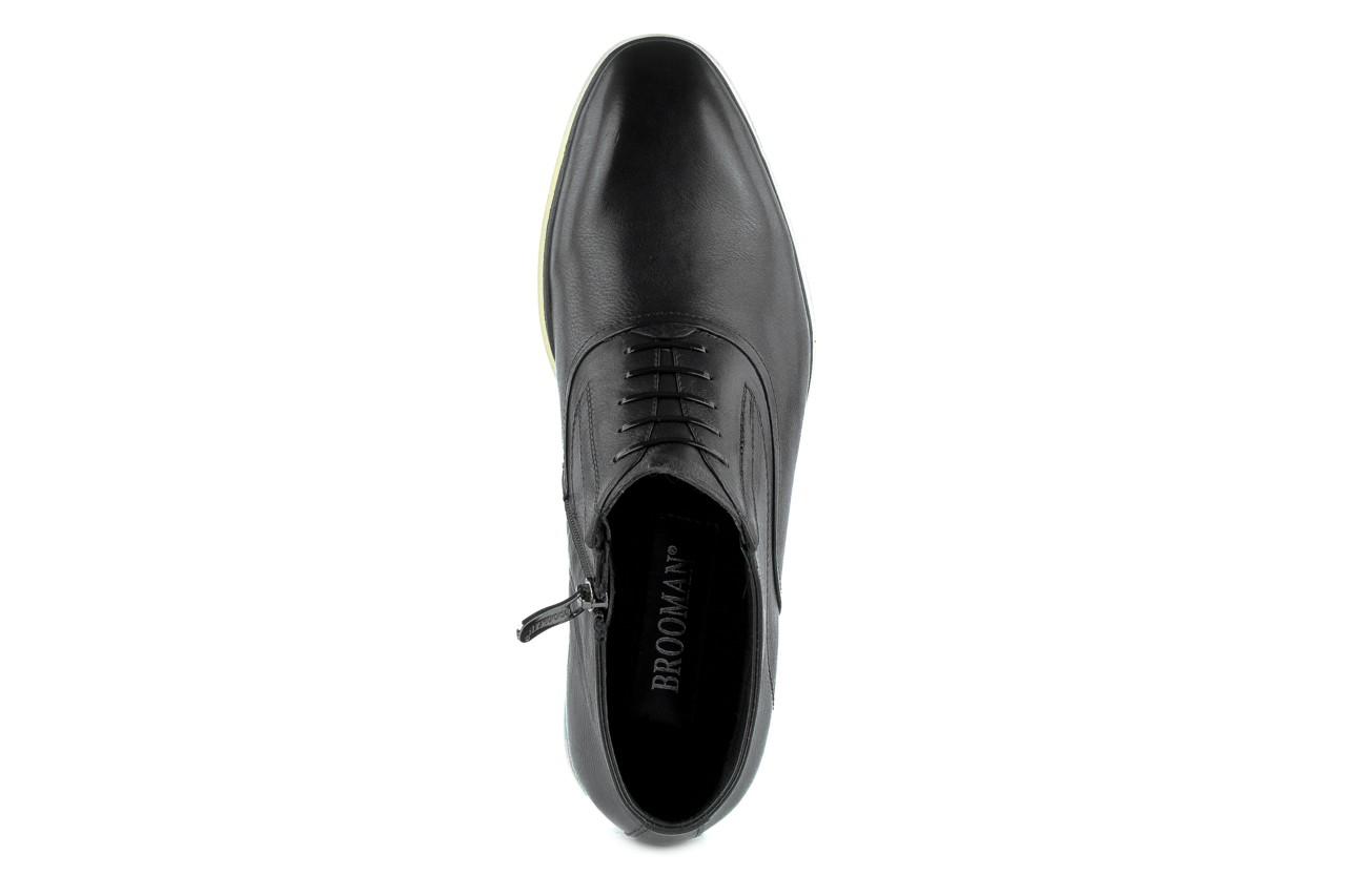Trzewiki brooman he 102-c10-d202 black, czarny, skóra naturalna  - brooman - nasze marki 7