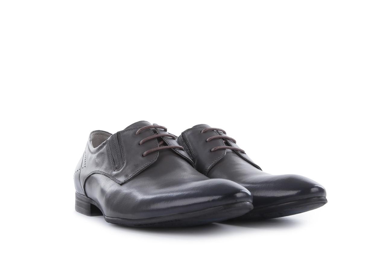 Półbuty brooman john doubare 2501-1-11 grey, szary, skóra naturalna - brooman - nasze marki 8