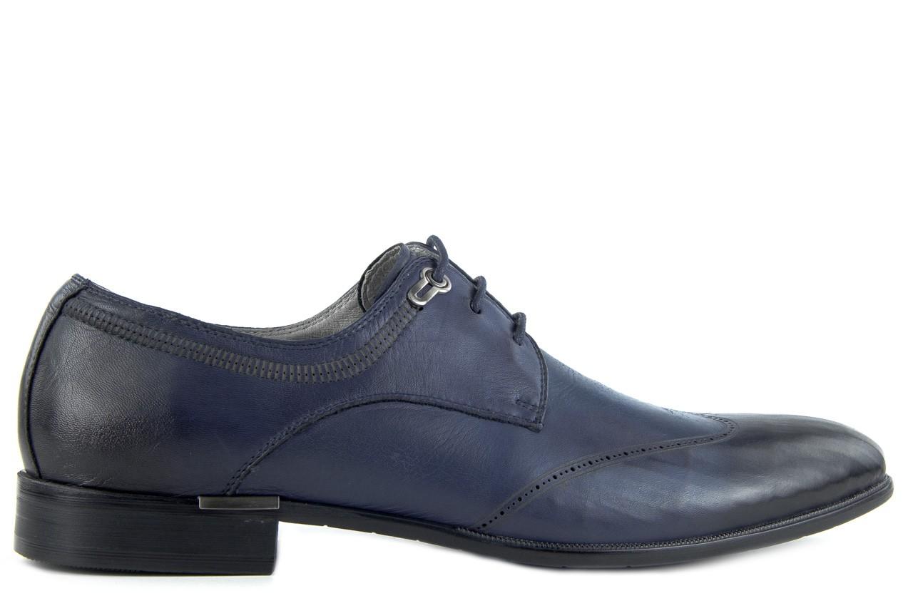Półbuty brooman john doubare 2583-3-3 blue, granat, skóra naturalna  - brooman - nasze marki 9