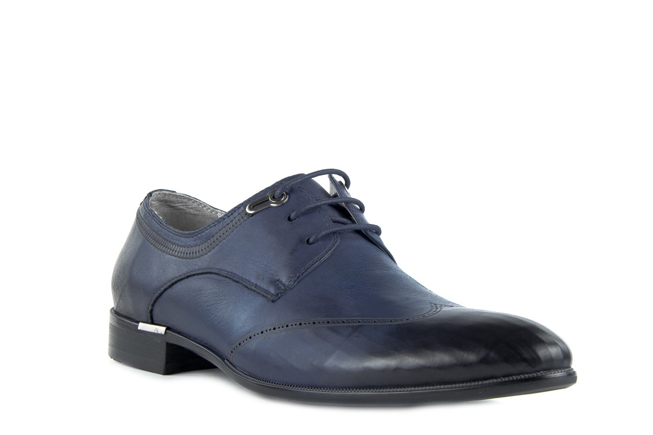 Półbuty brooman john doubare 2583-3-3 blue, granat, skóra naturalna  - brooman - nasze marki 8