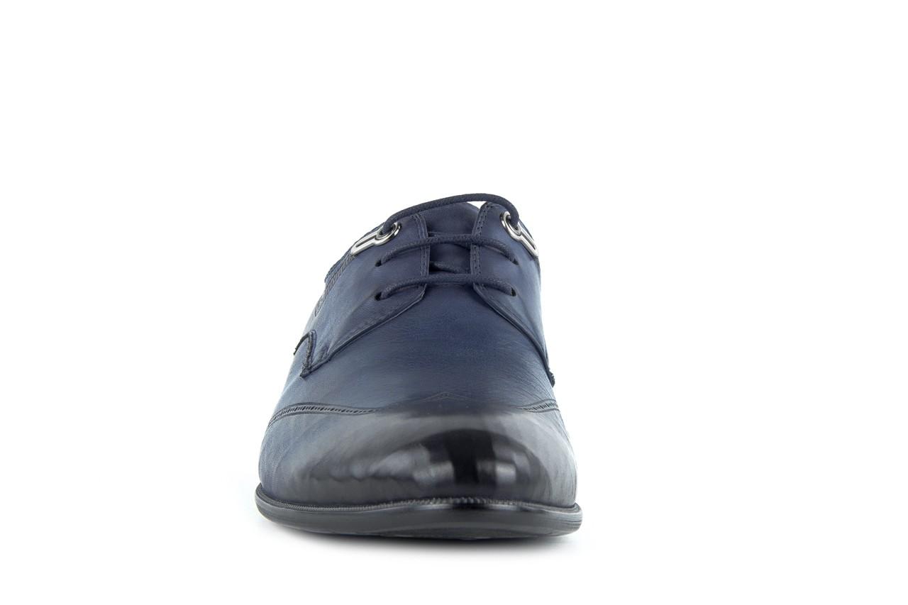 Półbuty brooman john doubare 2583-3-3 blue, granat, skóra naturalna  - brooman - nasze marki 6