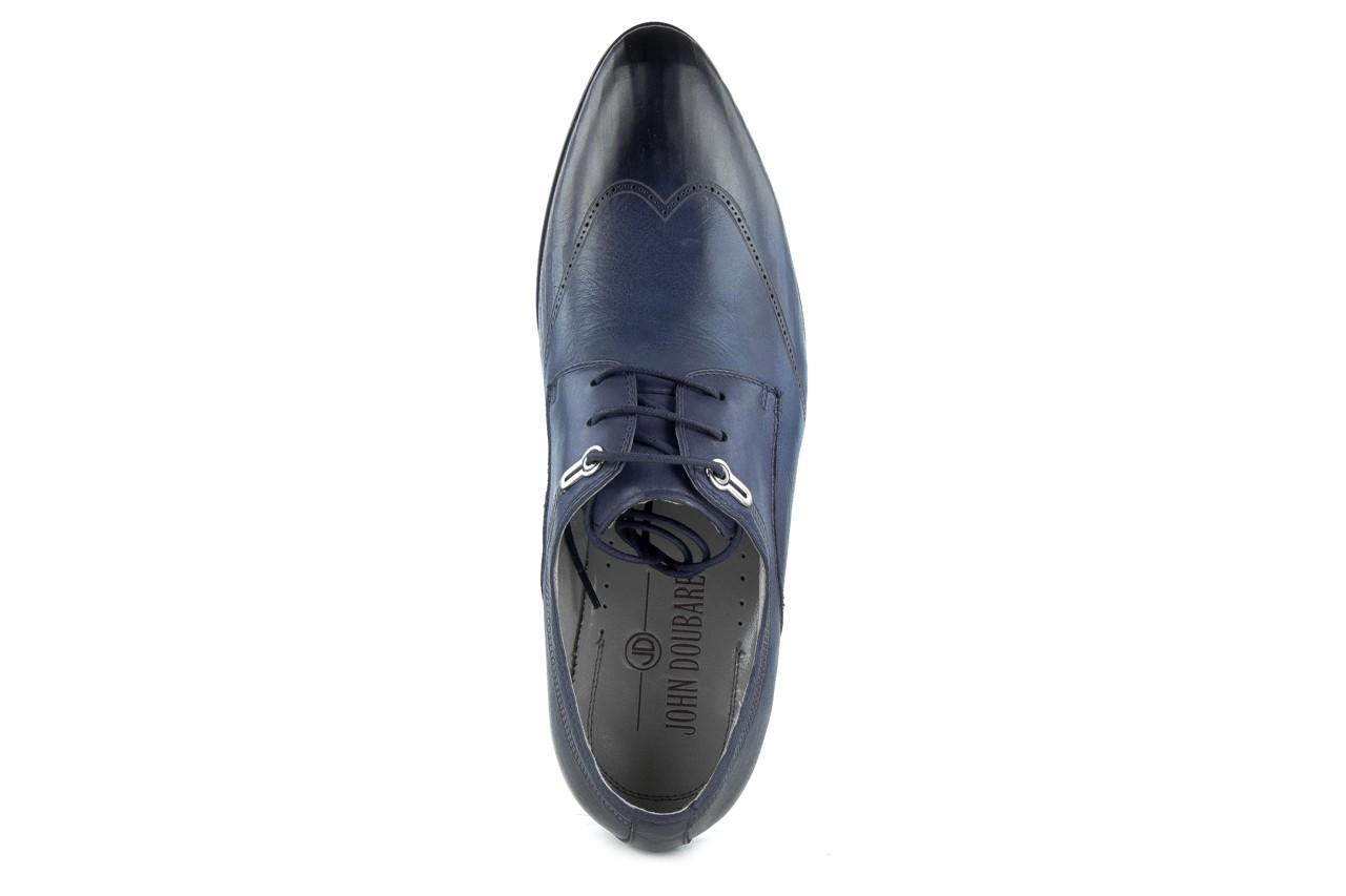 Półbuty brooman john doubare 2583-3-3 blue, granat, skóra naturalna  - brooman - nasze marki 11