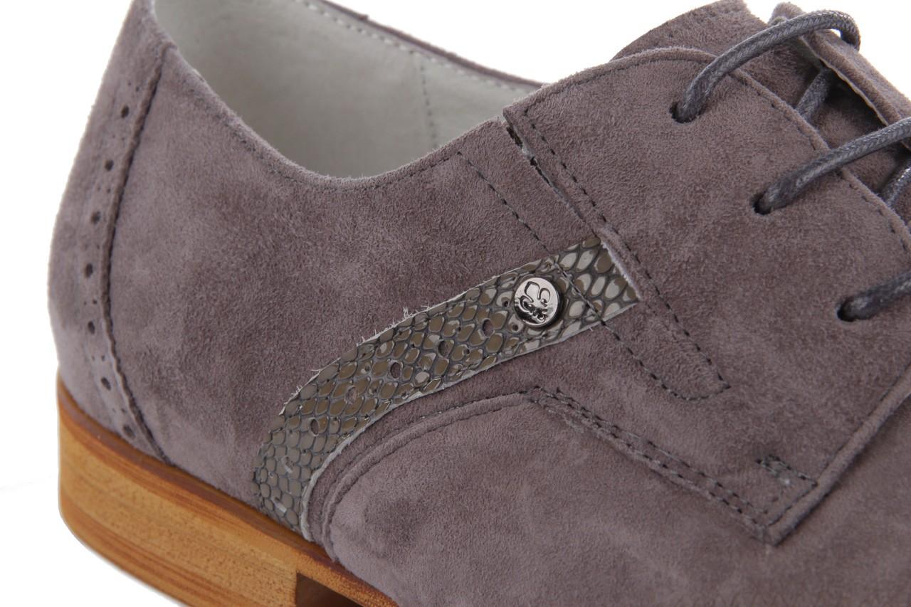 Półbuty brooman john doubare 2632-6-6 grey, szary, skóra naturalna - brooman - nasze marki 12