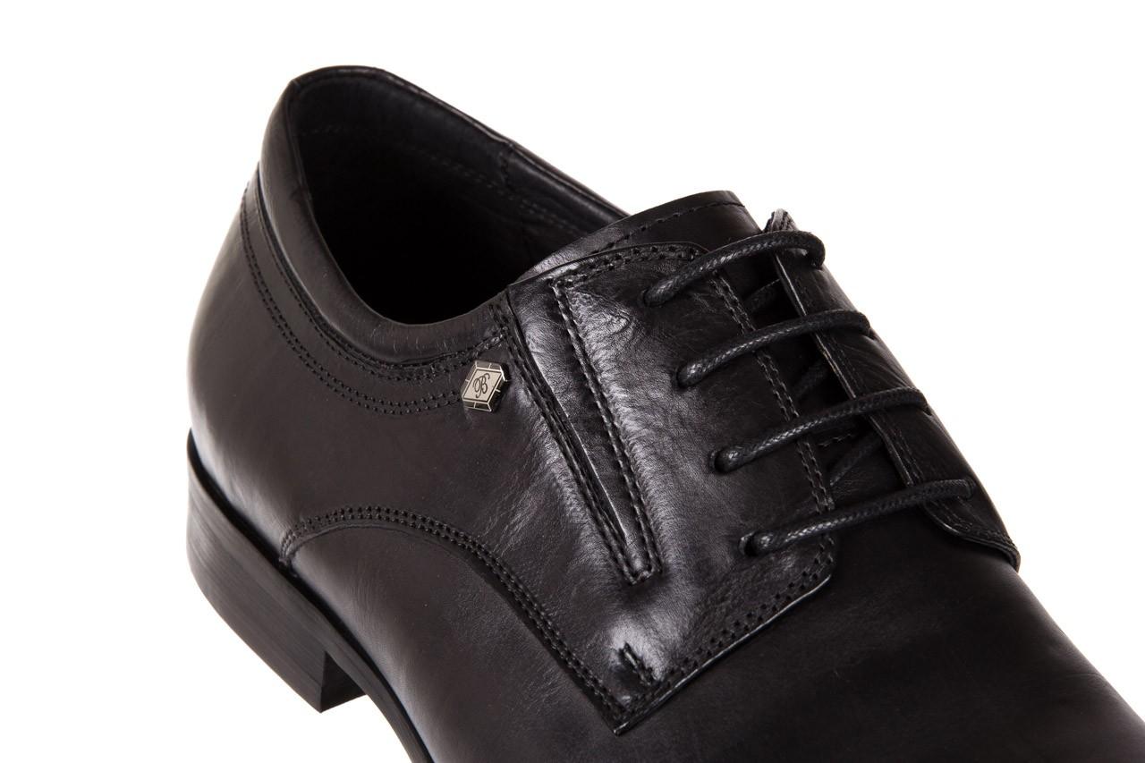 Półbuty brooman john doubare 2701-6-1 black, czarny, skóra naturalna 11
