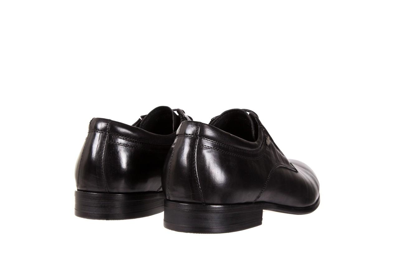 Półbuty brooman john doubare 2701-6-1 black, czarny, skóra naturalna 9