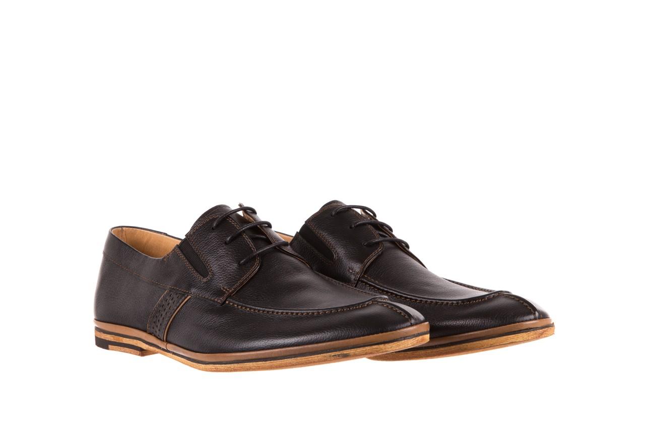 Półbuty brooman john doubare hs75-1-1 black, czarny, skóra naturalna  - dla niego - sale 7