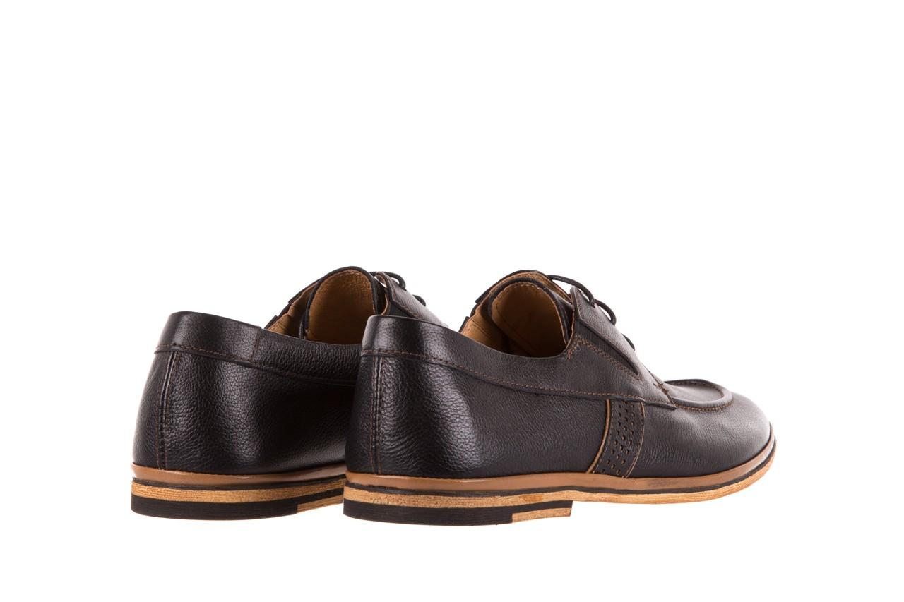 Półbuty brooman john doubare hs75-1-1 black, czarny, skóra naturalna  - dla niego - sale 9