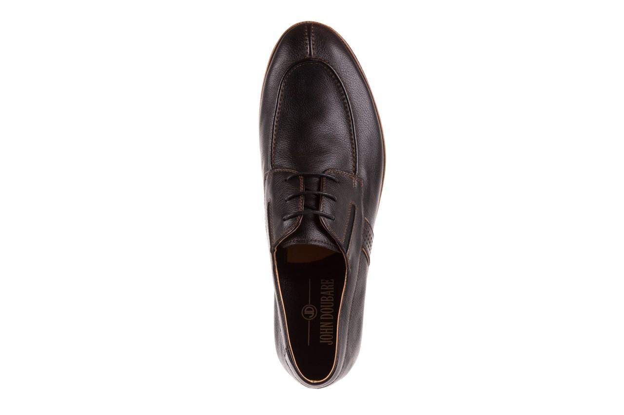 Półbuty brooman john doubare hs75-1-1 black, czarny, skóra naturalna  - dla niego - sale 11
