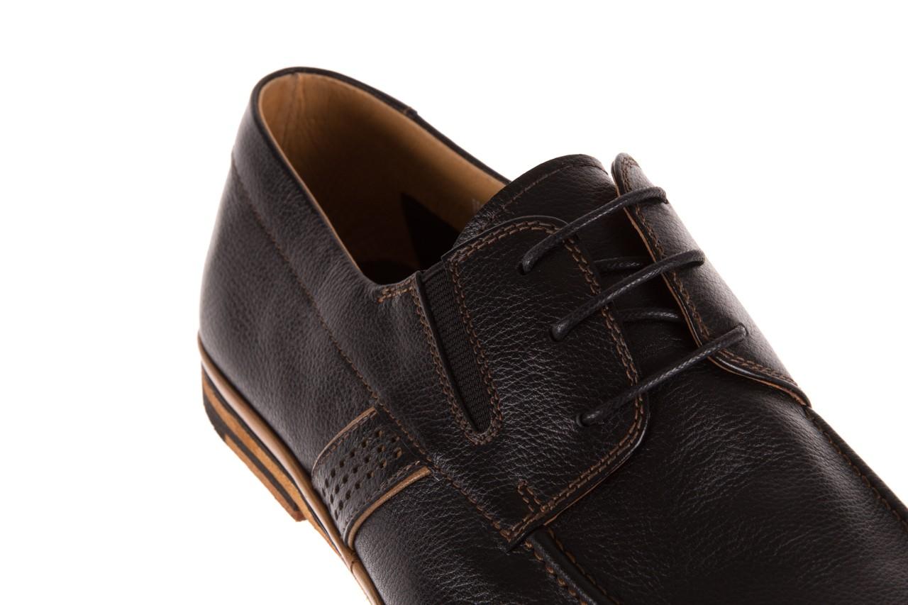 Półbuty brooman john doubare hs75-1-1 black, czarny, skóra naturalna  - dla niego - sale 10