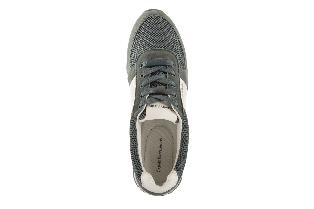 Sneakersy calvin klein jeans dusty mesh washed nubuck smoot dusty blue, zielony, skóra/materiał - calvin klein jeans - nasze marki 11