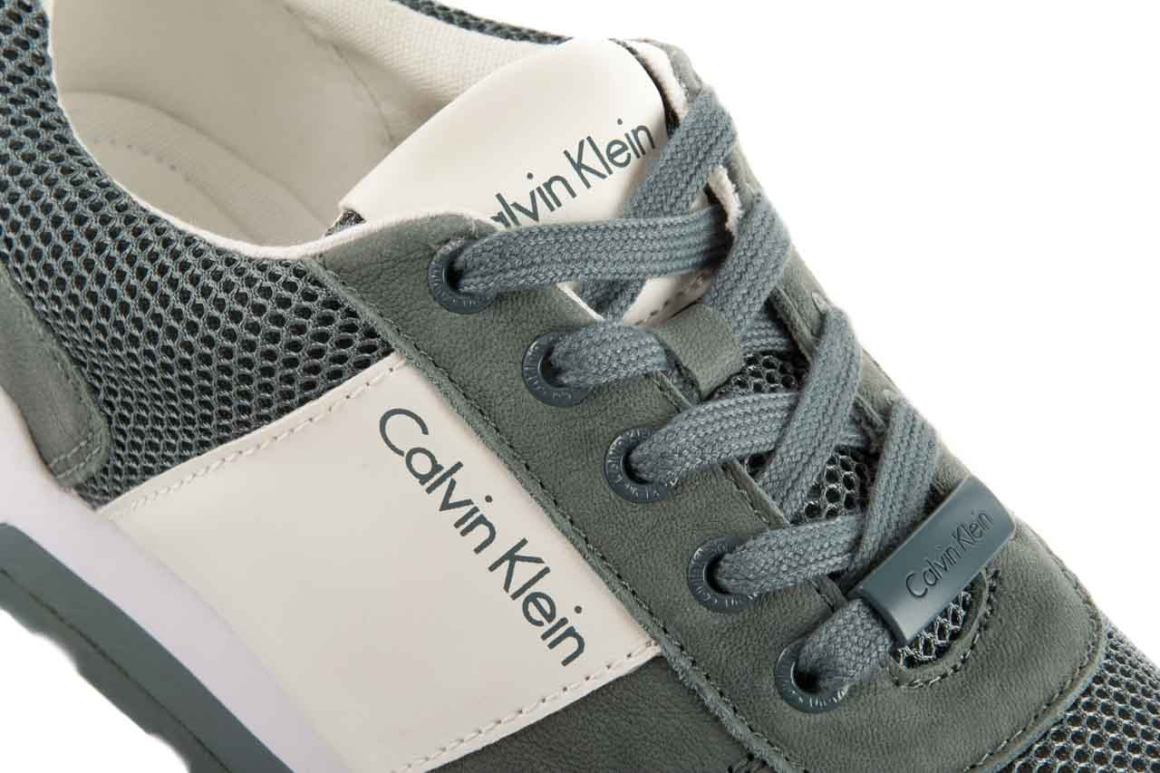 Sneakersy calvin klein jeans dusty mesh washed nubuck smoot dusty blue, zielony, skóra/materiał - calvin klein jeans - nasze marki 13