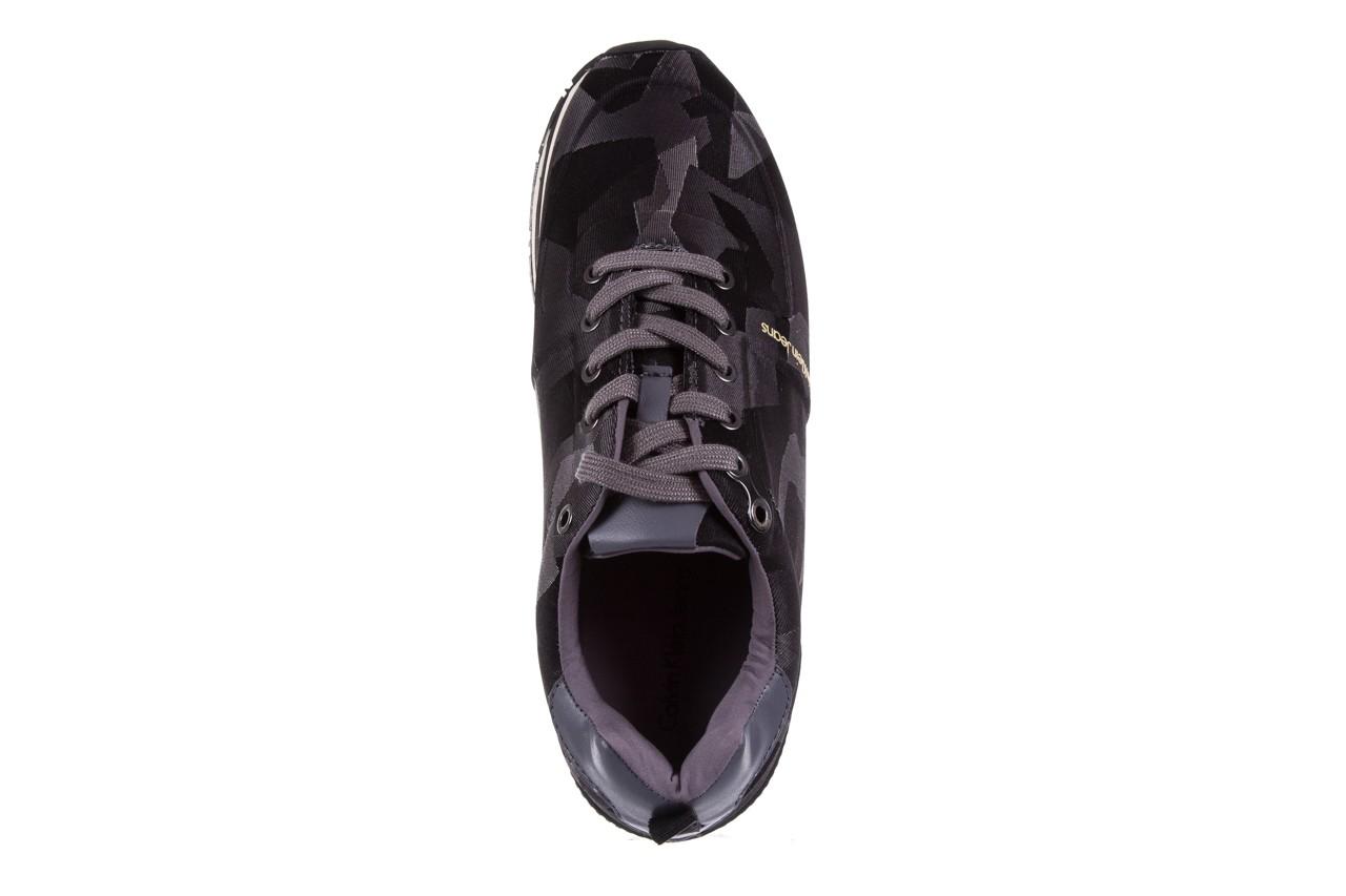 Trampki calvin klein jeans everly camouflage jacquard dark grey, szary, materiał - trampki - buty męskie - mężczyzna 10