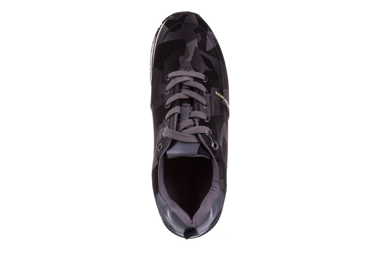 Trampki calvin klein jeans everly camouflage jacquard dark grey, szary, materiał - calvin klein jeans - nasze marki 10