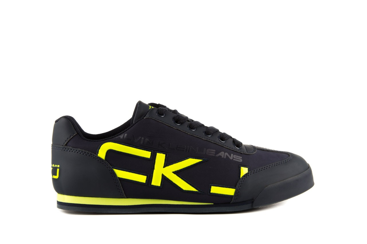 Calvin klein jeans cale matte smooth patent navy yellow 7