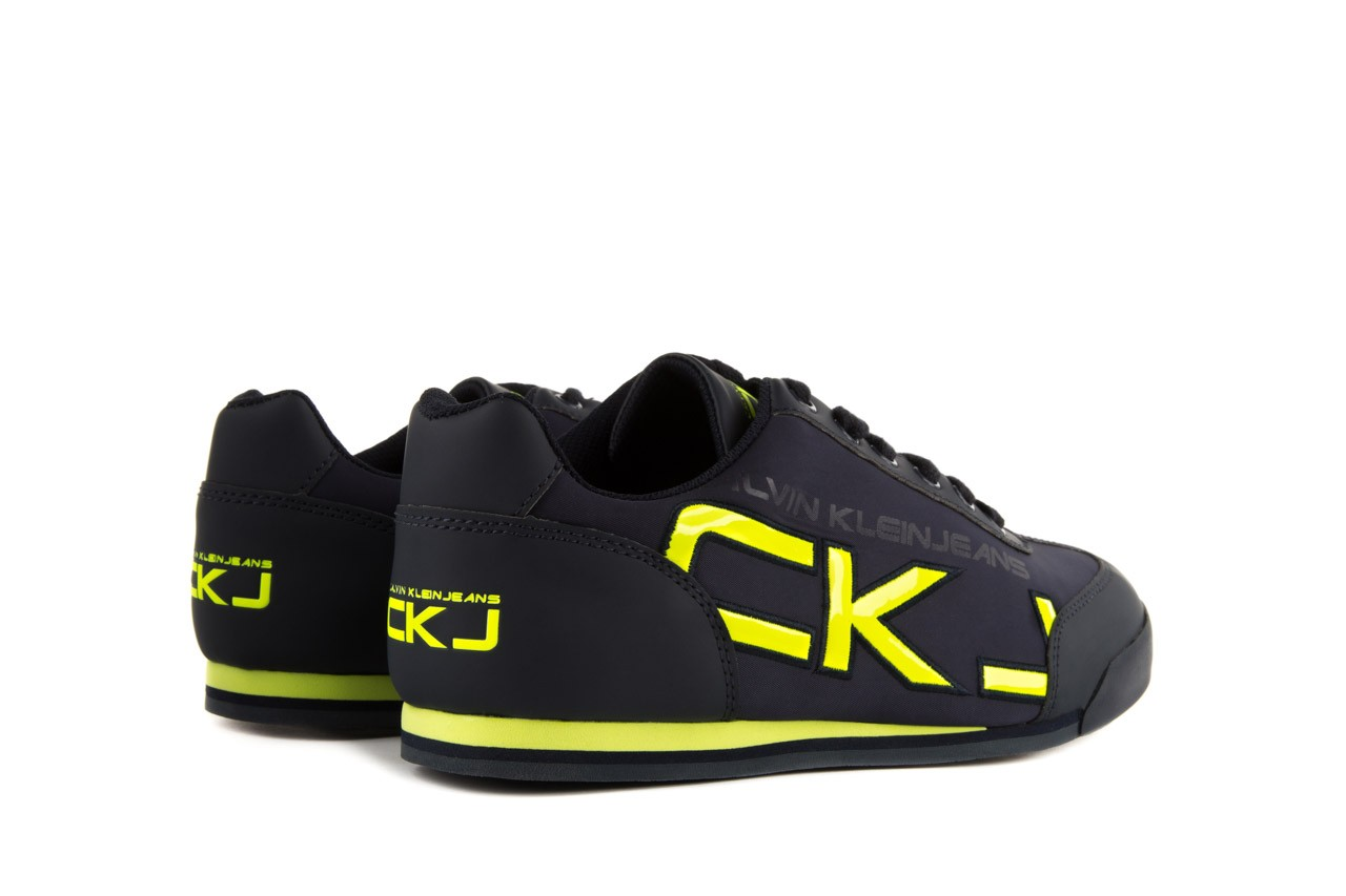 Calvin klein jeans cale matte smooth patent navy yellow 10