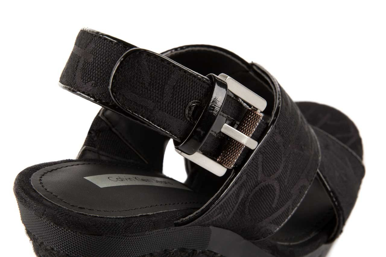 Calvin klein jeans elaine ck logo jacquard patent black 11