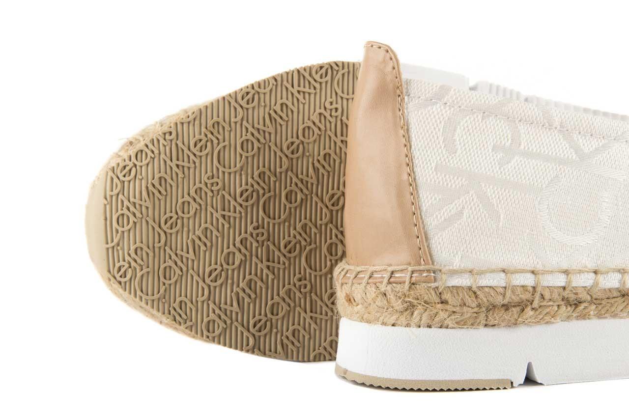 Calvin klein jeans genna ck logo jacquard vacchet white/natural - calvin klein jeans - nasze marki 11