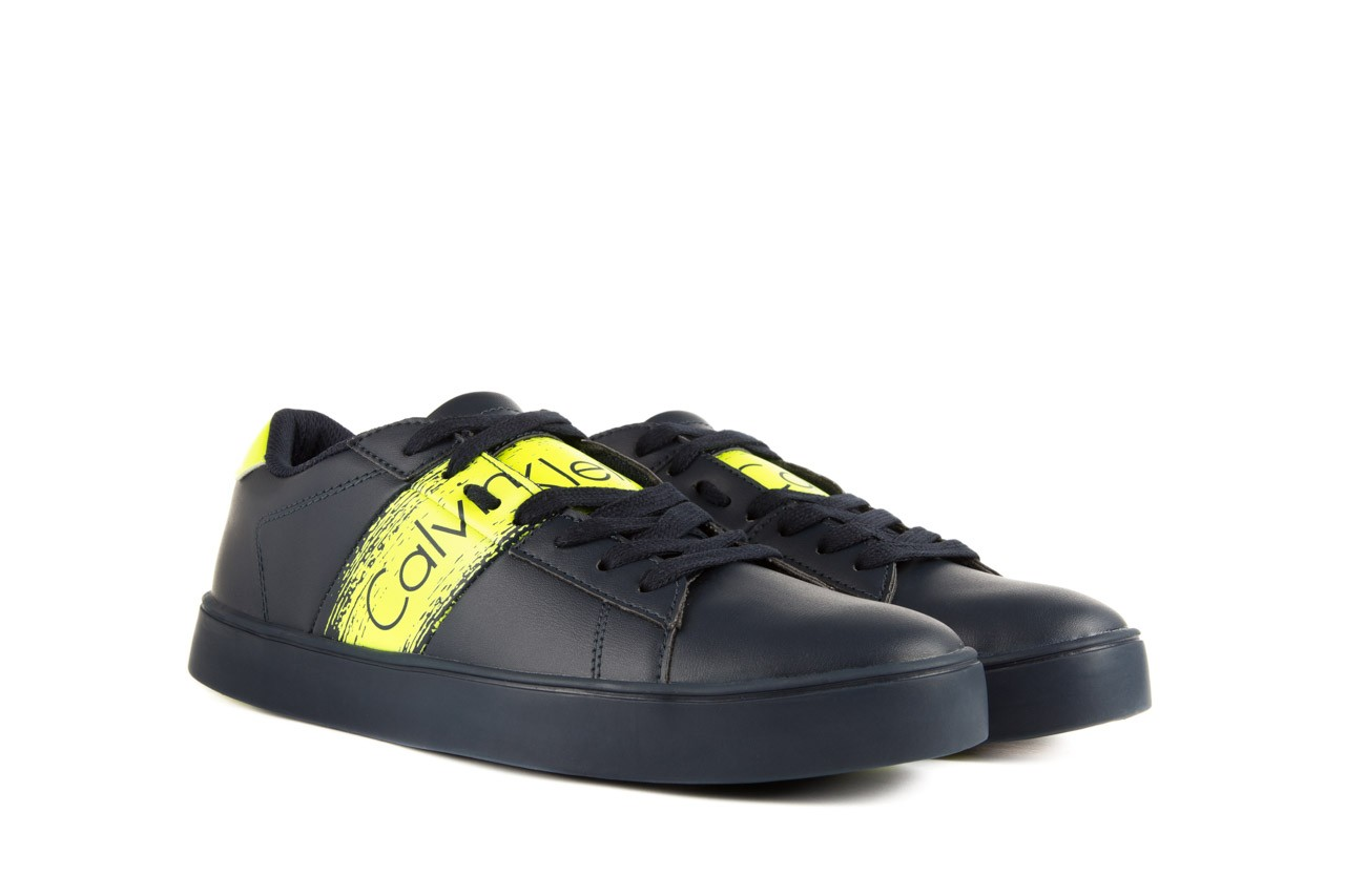 Calvin klein jeans luis matte smooth print navy yellow 8