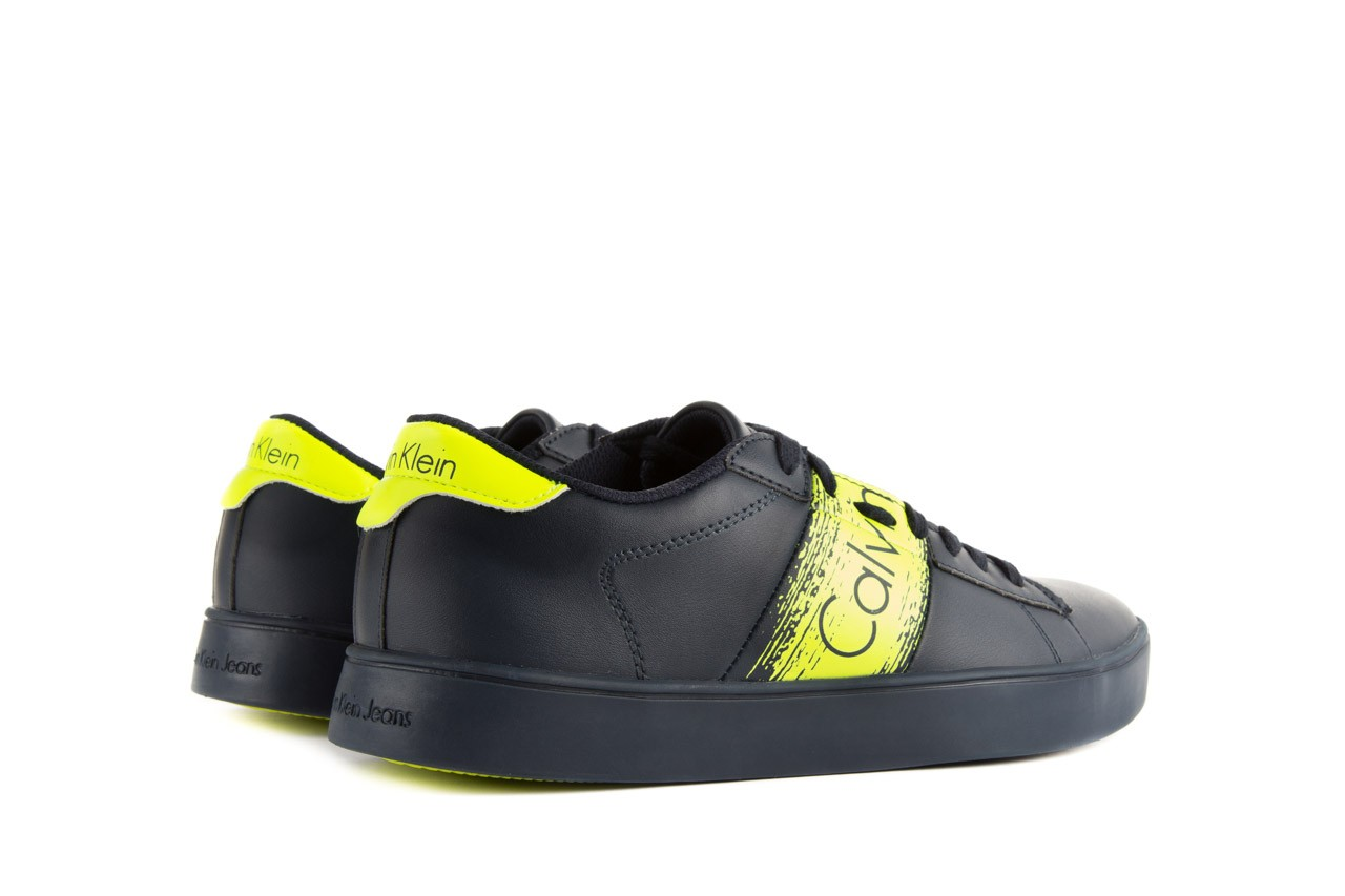 Calvin klein jeans luis matte smooth print navy yellow 10