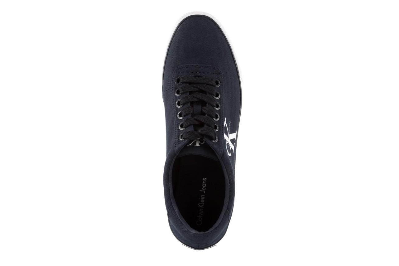 Trampki calvin klein jeans oscar canvas navy, granat, materiał 10