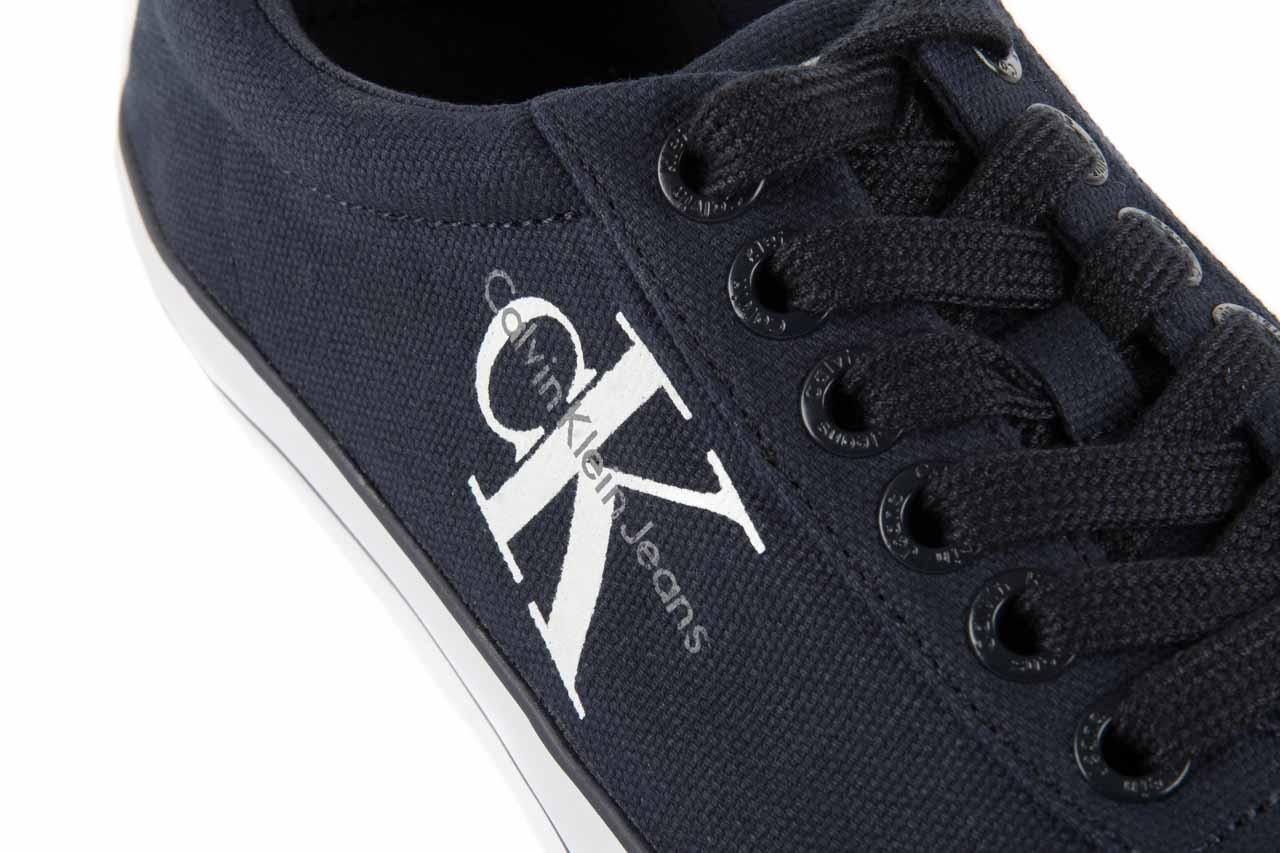 Trampki calvin klein jeans oscar canvas navy, granat, materiał 11