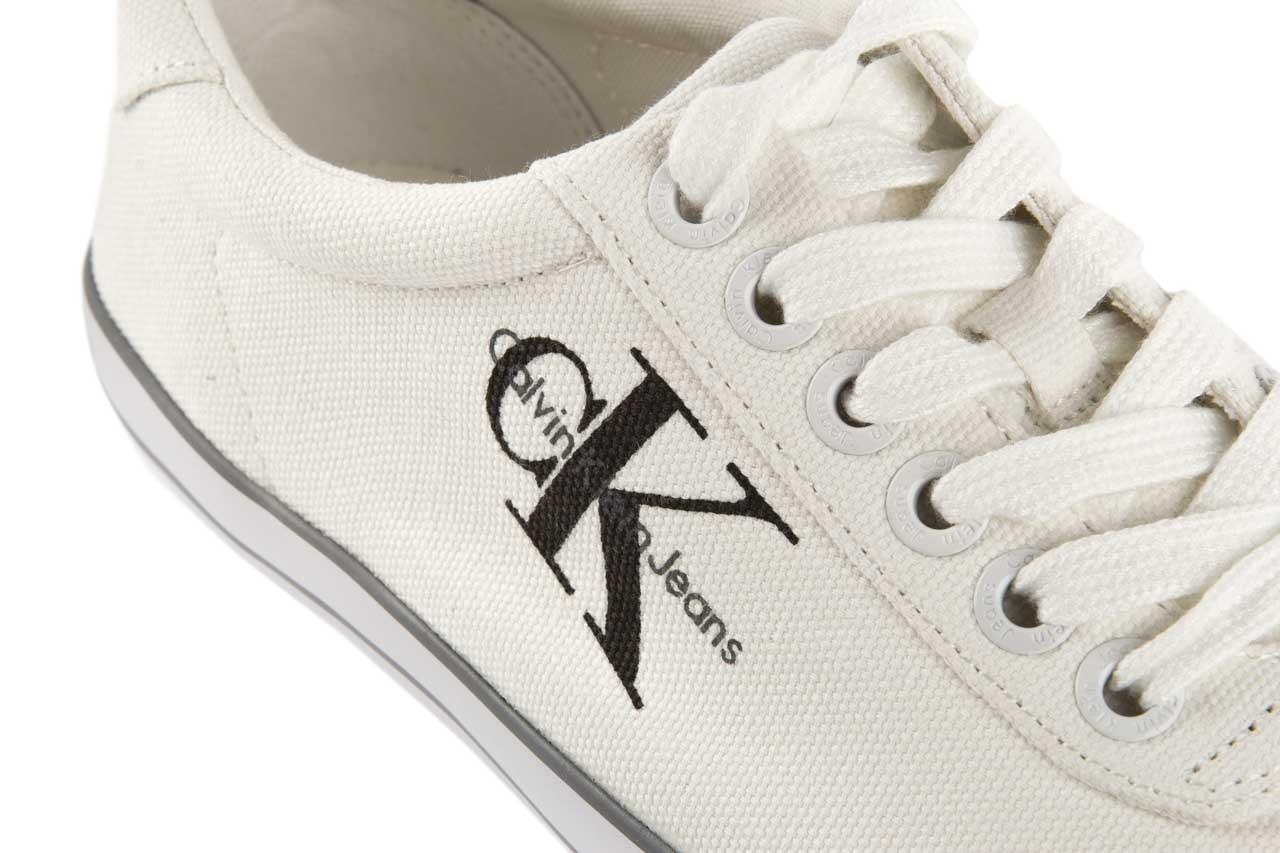 Trampki calvin klein jeans oscar canvas white, biały, materiał - calvin klein jeans - nasze marki 11