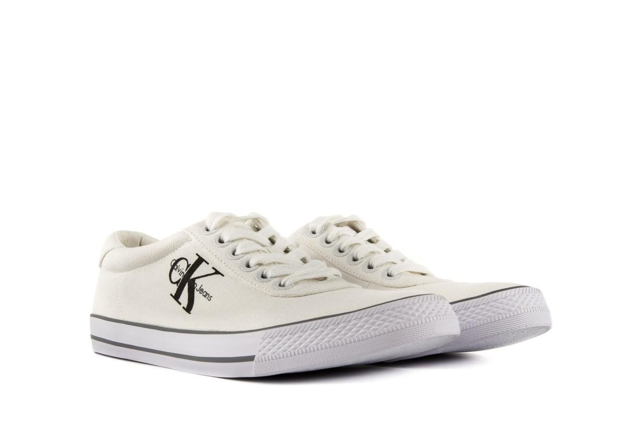 Trampki calvin klein jeans oscar canvas white, biały, materiał - calvin klein jeans - nasze marki 7