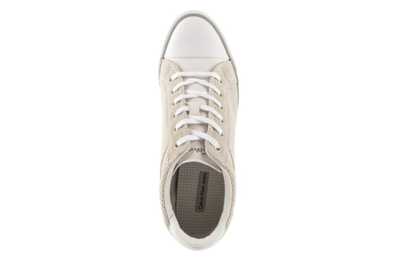 Calvin klein jeans voss perf suede smooth white - calvin klein jeans - nasze marki 10