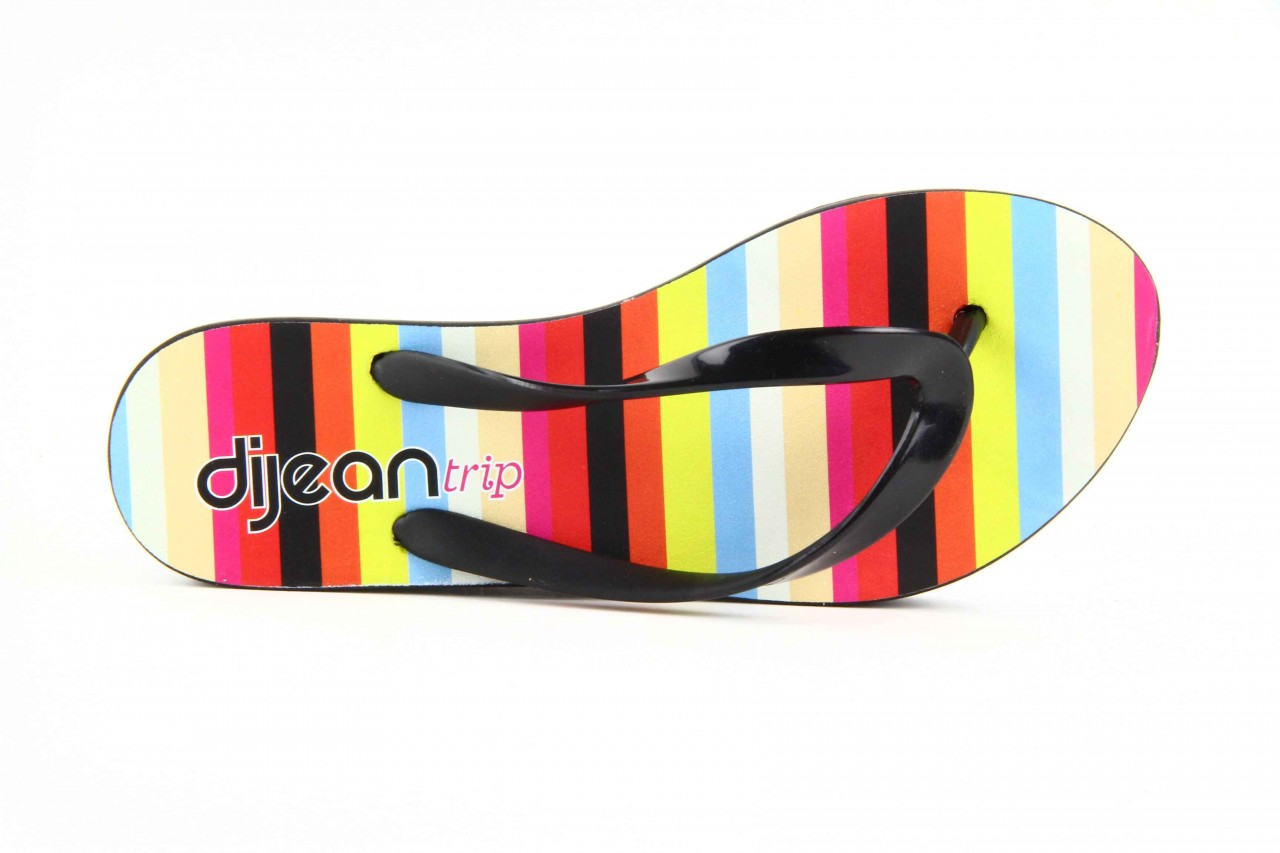 Klapki dijean 256 779 black stripes, czarny, guma - piankowe - klapki - buty damskie - kobieta 11