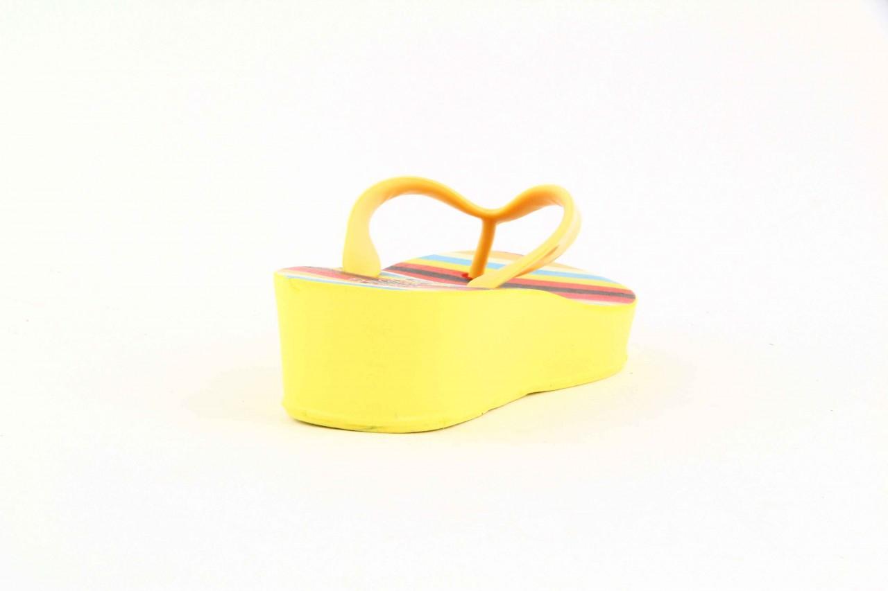 Klapki dijean 256 779 passfruit listr, żółte, guma  - dijean - nasze marki 6