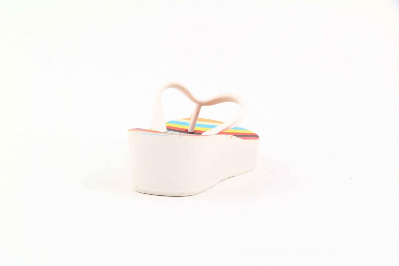 Klapki dijean 256 779 white listras, białe, guma - piankowe - klapki - buty damskie - kobieta 11